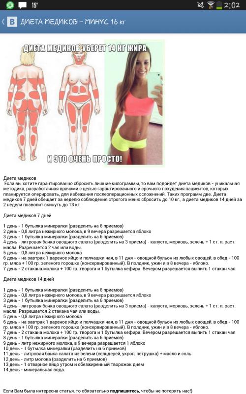 Диета Медиков Результаты Похудения.
